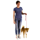3D Scanned Girl and Dog