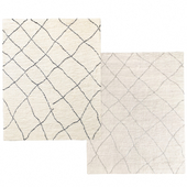 Ковер Linear Sketched Hand-Knotted Wool Shag от Restoration Hardware