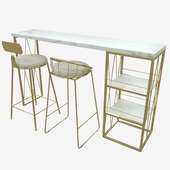 design logistic console and chairs