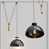 Подвесной светильник Shape up Pendant Hemisphere Black designed by John Hogan