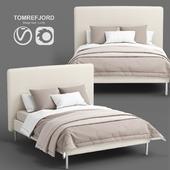 IKEA TOMREFJORD beige bed, Luröy