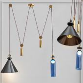 Подвесной светильник Shape up Double Pendant Black designed by John Hogan