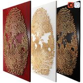 Decor fingerprint mural