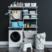 IKEA wall-mounted module Algot 11 / washing machine
