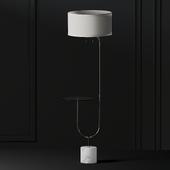 Adesso Sloan 65 in. Nickel Floor Lamp
