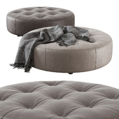 Leathercraft / Vivian Round Ottoman