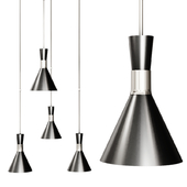 Liam Small Conical Pendant by STUDIO VC Nickel and Black