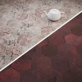 CIR Miami Esagona Collins Red and Red Clay Tile Set