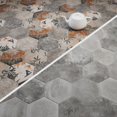 CIR Miami Esagona Florida Gray and Dust Gray Tile Set