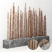 Бамбук на основании из речного камня / Bambooo decor fundament river stone