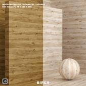 Материал дерево / береза (бесшовный) - set 74