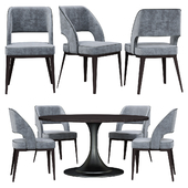 Table and chairs minotti NETO table