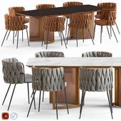 LoftDesigne Chair 2678 and Table 6838
