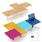 Set of elements for park benches MMCITE Pixel