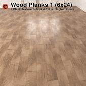 Plank Wood Floor - 1 (6x24)