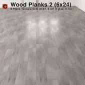 Plank Wood Floor - 2 (6x24)