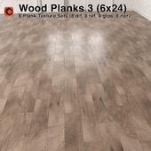 Plank Wood Floor - 3 (6x24)