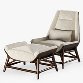 Tansen Lounge Chair and Ottoman
