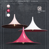 Pendant Lamp Semi Pendant By Bonderup & Thorup for Gubi White / Pink / Red