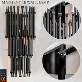 MATHENY III WALL LAMP by DELIGHTFULL Black