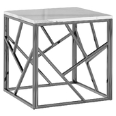 Приставной стол Serene Furnishing Chrome Marble Top Side Table