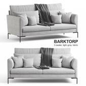 Ikea BARKTORP sofa, gray fabric.