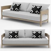 RH Outdoor Balmain teak sofa