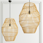 Bamboo rattan pendant light