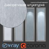 Decorative plaster, single layer option 209