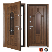 Entrance metal door of Vezha 4 3d (Your Frame)
