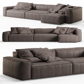 NeoWall Leather Corner Sofa by Living Divani