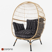 Southport Vee Striped Egg Chair