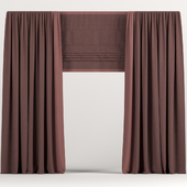 Curtains with Roman.