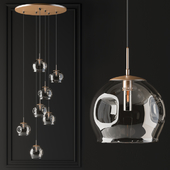 Pendant light glass globe