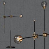 Floor lamp loft-concept Baton FLOR LAMP black / gold 2