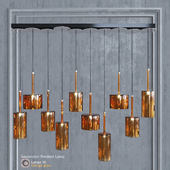 Pendant lamp AXO Light Spillray SP lamps 10 glass orange