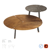 De Castelli Placas Side Table