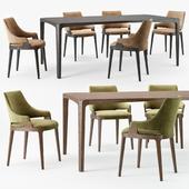 Potocco Velis chair Eiles table