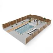 outdoor exterior set_pergola and pool