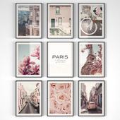 Pink Paris Posters