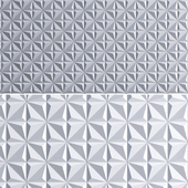3D Panel - Amarelo (low poly)