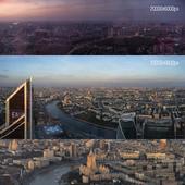 Вид на Москву с Башни Федерация