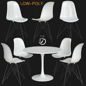 Inspiracao Sala de Jantar Minimalista (low poly)
