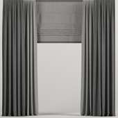 Dark curtains with Roman.