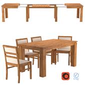 Стол раскладной Эльбридж (elbridge) и стулья