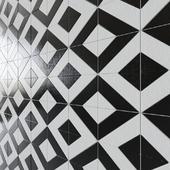 Porcelain tile Twt Mos Geometrico Moon / Dark