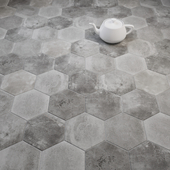 CIR Miami Esagona Dust Grey (Ex Polvere) Tile Set