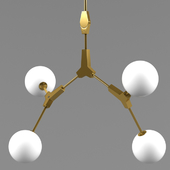 Molecular shaped chandeliers