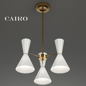 CAIRO Chandelier 3 Arm White