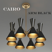 CAIRO Chandelier 8 Arm black